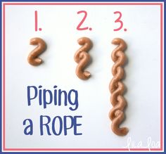 How to Pipe and Icing Rope -- Tutorial