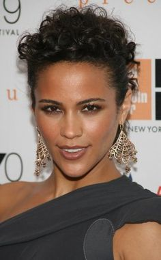 Paula Patton - Glamorous Formal Updo Hairstyle | Black-Hair-Styles Hairstyle