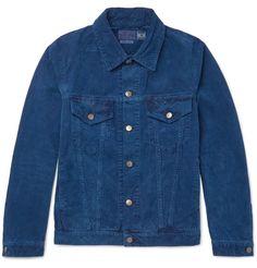 Indigo-Dyed Cotton Corduroy Jacket by Blue Blue Japan