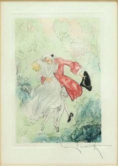 Louis Icart (French, 1888-1950) La Nuit Et Le Moment. Lot 152-6100