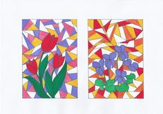 Drawing Programs, Diy And Crafts, Arts And Crafts, Advertising And Promotion, Stained Glass Flowers, School Art Projects, Color Theory, Spring Crafts, Bead Art