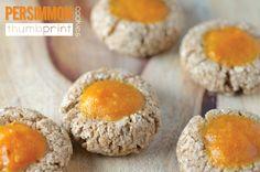 Persimmon thumbprint cookies