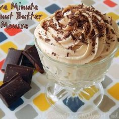 Low Carb dessert in a pinch! 5 Minute Peanut Butter Mousse shared on https://www.facebook.com/lowcarbtestkitchen