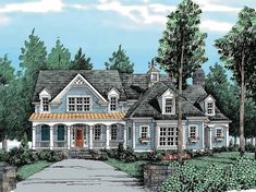 Country House Plan with 3162 Square Feet and 4 Bedrooms(s) from Dream Home Source | House Plan Code DHSW38755