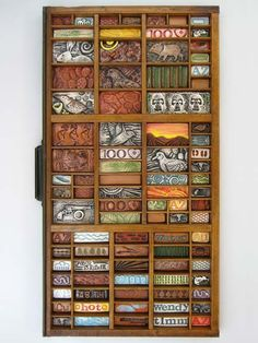 printers drawer with clay tiles