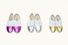 glitzy topped shoes