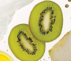 #Drop10 Superfood Kiwifruit - Slimming superpowers: A large kiwi has 84 milligrams of vitamin C—more than a day's quota. C helps form carnitine, a compound that transports fat into cell mitochondria, where it's burned for energy during exercise.
