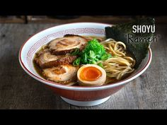 Receta de Sopa Ramen (Shoyu Ramen) - YouTube Asian Recipes, Healthy Recipes, Ethnic Recipes, Shoyu Ramen, Dim Sum, Food Videos, Recipe Videos, Japanese Food, Deli