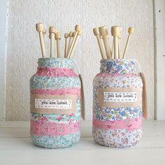 fabric covered jars