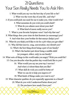 These are good to ask anyone.