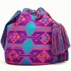 Electric Blue Wayuu Tribe Bag