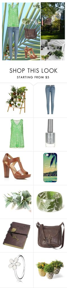 """Everyday Is A Fresh Start"" by oksana-kolesnyk ❤ liked on Polyvore featuring Kekkilä, Paige Denim, P.A.R.O.S.H., New Look, MICHAEL Michael Kors, Casetify, Retrò, Fat Face, Pandora and Ilia"