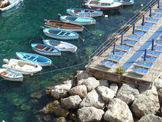 Ecco il panorama che si ammira dal Ristorante Risorgimento sulla spiaggia di Conca dei Marini - Amalfi