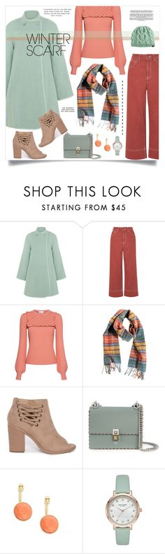 """""""Winter Scarf"""" by tracireuer ❤ liked on Polyvore featuring Chloé, Topshop, RED Valentino, Overland Sheepskin Co., Fendi, Trina Turk, Kate Spade, Keds and winterscarf"""