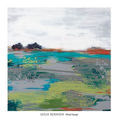 Love the turquoise in this image, Wind Swept by Leslie Bernsen. Let the Wall Design Diva assist with your order!