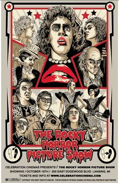 The Rocky Horror Picture Show (1975) - poster by Steve Jencks