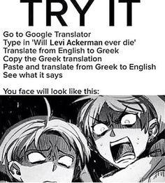 Levi - Attack on Titan / Shingeki no Kyojin Armin, Levi X Eren, Mikasa, Attack On Titan Funny, Attack On Titan Anime, Aot Memes, Funny Memes, Manga Info, Cosplay Meme