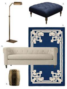 One Design, Two Budgets: Classic, Elegant Living Room