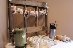 - Prindler Productions -  Bridal Shower, coffee/tea station, rustic, pallet, photos...