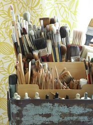 A lot of brushes