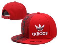 Mens Adidas Originals World Most Popular Best Quality Sports Baseball Retro Fashion Trend Snapback Cap - Red