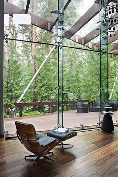 Ideal Contemporary indoor outdoor feel .... Interior by Olga Freyman