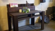 Table stained and sold Pallet Furniture For Sale, Homemade Tables, Stained Table, Home Decor, Decoration Home, Room Decor, Home Interior Design, Home Decoration, Interior Design