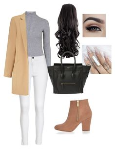 """""""Kardashian look"""" by zoebug664 on Polyvore featuring Topshop, River Island, Miss Selfridge, CÉLINE, women's clothing, women, female, woman, misses and juniors"""