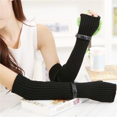 Find More Gloves & Mittens Information about Autumn Winter Men and Women Warm Arm Mitten Long Sleeve Knitted Gloves Mittens half Fingerless Sexy Wrist Cover Glove,High Quality gloves motocross,China gloves cute Suppliers, Cheap gloves panda from Bys Store Store on Aliexpress.com
