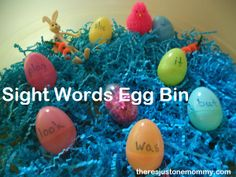 sight word Easter eggs activity from There's Just One Mommy