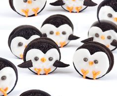 Playful Polar Penguin pals. Decorated Oreos make a cute craft and a tasty snack.