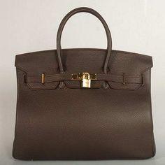 Hermes Birkin Dark Brown Gold
