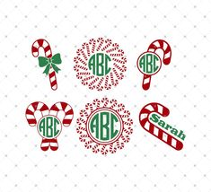 Christmas Candy Cane SVG Cut files