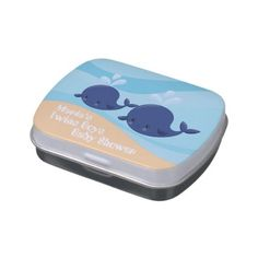#shower - #add name Nautical twin boys baby shower favor Jelly Belly Candy Tin