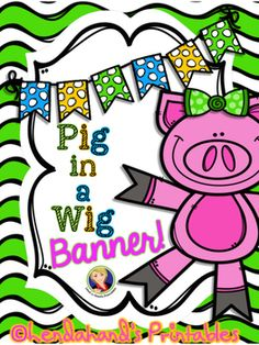Supplementary resources to supplement Scott Foresman's Reading Street (2008/2011 version) for first grade Unit 1 Week 2 -- Pig in a Wig Banner.  RTI Thursdays is BACK!  Here it is a day early! This is a FOREVER FREEBIE! Here's the Challenge!  Once we get to 20 Feedbacks on this FOREVER FREEBIE I will post  another BANNER to go along with another one of the Reading Street STORIES=).