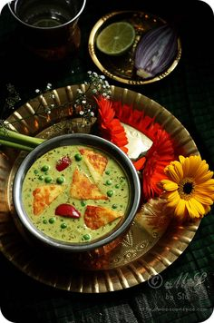 Nawabi Paneer Curry Recipe | Simple Paneer and Peas Curry Recipe with Swiss Diamond Product Review and A Giveaway!