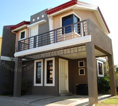 Filipino Architect Contractor 2-Storey House Design Philippines. Modern Style 3-Bedroom Family Home.