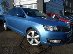 Used 2013 (13 reg) Blue Skoda Rapid 1.6 TDI CR Elegance 5dr for sale on RAC Cars