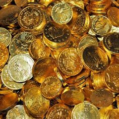 Gold Chocolate Coins Assorted Sizes- 1lb - great for a casino themed party or 50th wedding anniversary!
