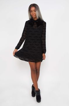 Madamned Shirt Dress by Iron Fist - SALE (Dresses And Skirts). Iron Fist Ladies - Shirt Dress Are you Batty.we think you will be over this new Iron Fist Madamned Dress! Bat Queens the IF sheer collared shirt dress Window Shopper, Collared Shirt Dress, Iron Fist, Dress Shirts For Women, Dresses For Sale, Collars, High Neck Dress, Punk, Sweaters