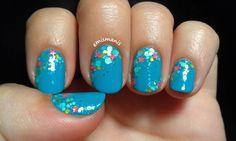 Rainbow Honey nail art with 488 nm and Sea Star. Blog link: http://emismanis.wordpress.com/2014/08/12/rainbow-honey-sea-star-and-488nm-august-mystery-bag/