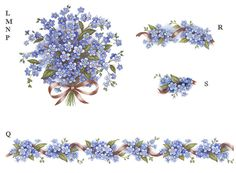 5116 Forget Me Not Bouquet Blue