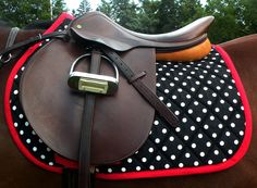 polka dot saddle pad