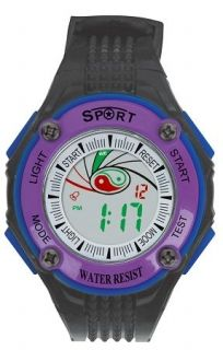 LED Digital Watch with Calendar, 30m Water Resistance Purple Women  Item No. : 55556  Price : $4.99  Category : Sport Watches