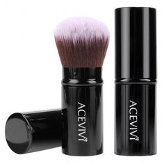 Acevivi Retractable Kabuki Brush Concealer Foundation Blush Face Powder Bronzer Makeup Brushes