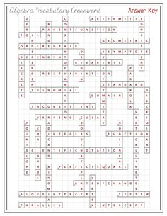 Printables Algebra Vocabulary Worksheet activities algebra and the ojays on pinterest this crossword puzzle will strengthen students skills in working with common vocabulary are given definition o