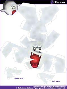 Super Mario Paper Craft - Boo