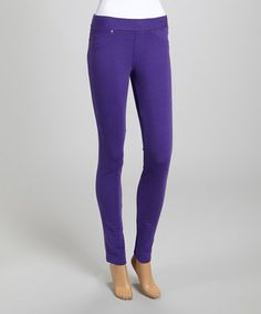 Look what I found on #zulily! Purple Classic Jeggings #zulilyfinds