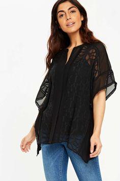 Black Kaftan Top - Tops - Clothing - Wallis Europe