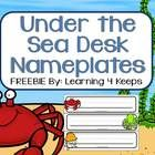 This FREE download is for a 6-pack of Desk Nameplates to compliment your ocean themed classroom!   Be sure to click on the Under the Sea (Ocean) ca...